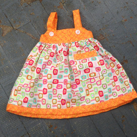 "18"" Doll Clothes Outfit Bright Summer Spring Geometric Print Dress"