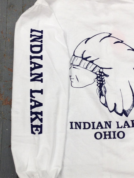 Indian Lake Ohio Hood Windbreaker Jacket Left Arm