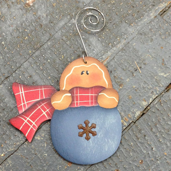 Holiday Christmas Tree Ornament Handmade Wooden Gingerbread Bulb