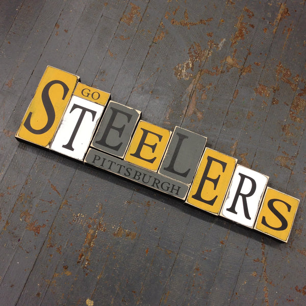 Hand Crafted Wood Word Block Set Football NFL Washington Redskins Decoration