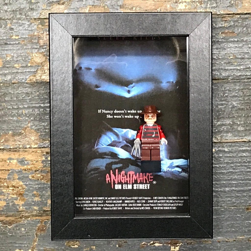 Freddy Krueger Friday 13th Horror Lego Figurine Wall Display Picture Frame Toy Art