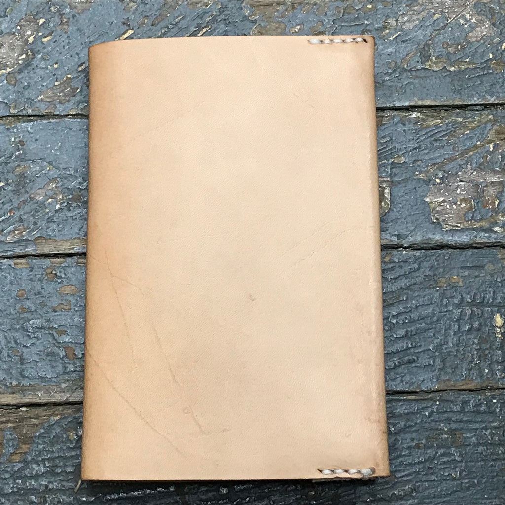 Leather Journal Book Cover Small Refillable Notebook