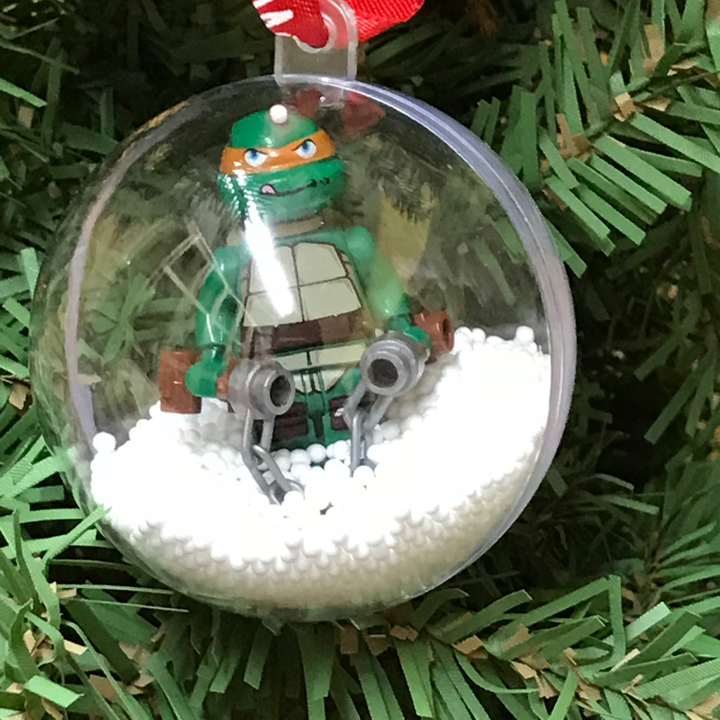 Holiday Tree Ornament Marvel DC Comic Ninja Turtle Michaelangelo Lego Figurine