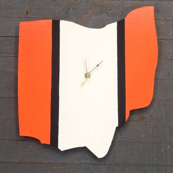 "State of Ohio Hand Crafted 13"" Cincinnati Bengals NFL Football Clock"