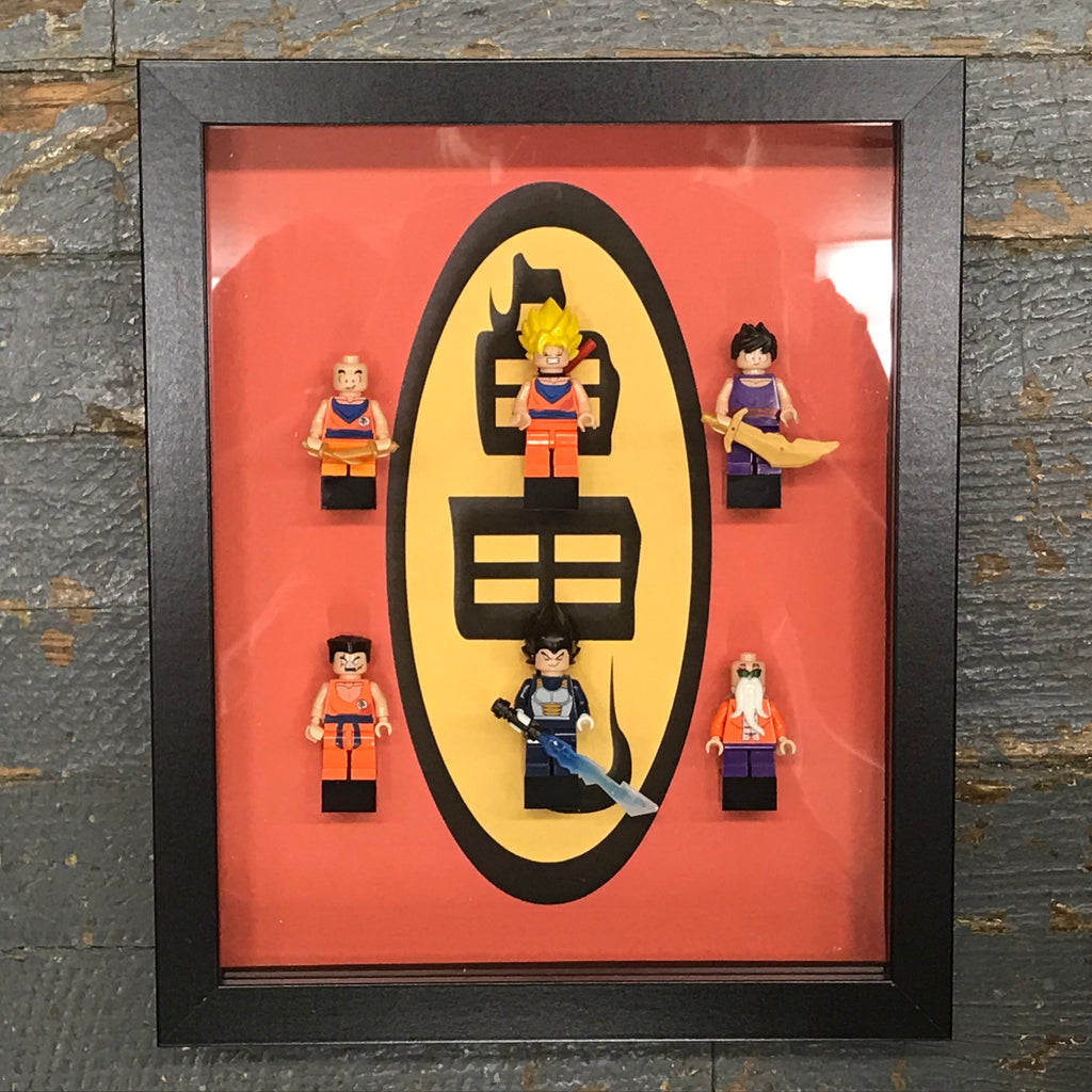 Dragon Ball Z Superhero Lego Figurine Wall Display Picture Frame Toy Art