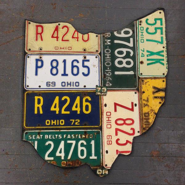 State of Ohio License Plate Art Large