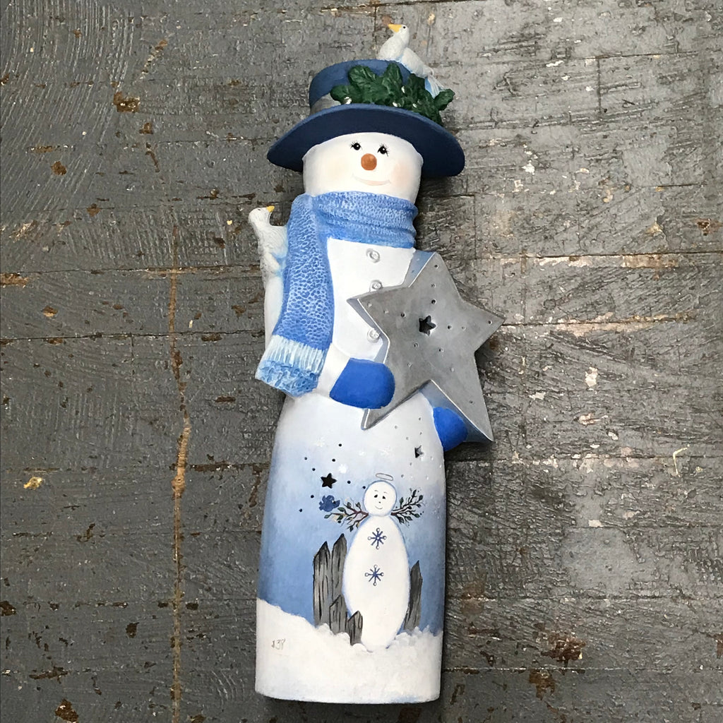 Ceramic Christmas Winter Frosty Snowman Painted Angel Belly