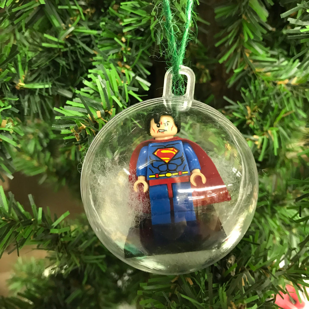 Holiday Tree Ornament Marvel DC Comic Superman Lego Figurine