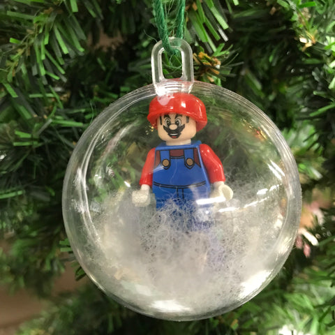 Holiday Christmas Tree Ornament Mario Brothers Nintendo Mario Lego Figurine