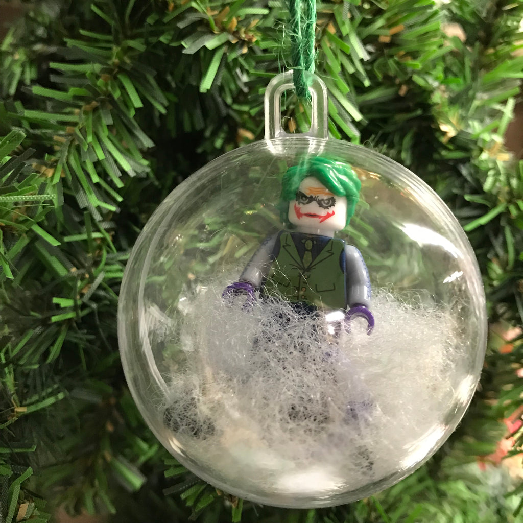 Holiday Tree Ornament Marvel DC Comic Joker Lego Figurine