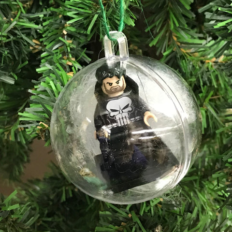 Holiday Tree Ornament Marvel DC Comic The Punisher Lego Figurine
