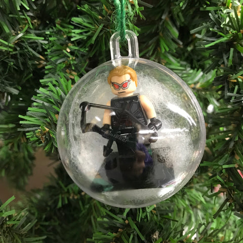 Holiday Christmas Tree Ornament Marvel Avengers Hawkeye Comic Flash Lego Figurine
