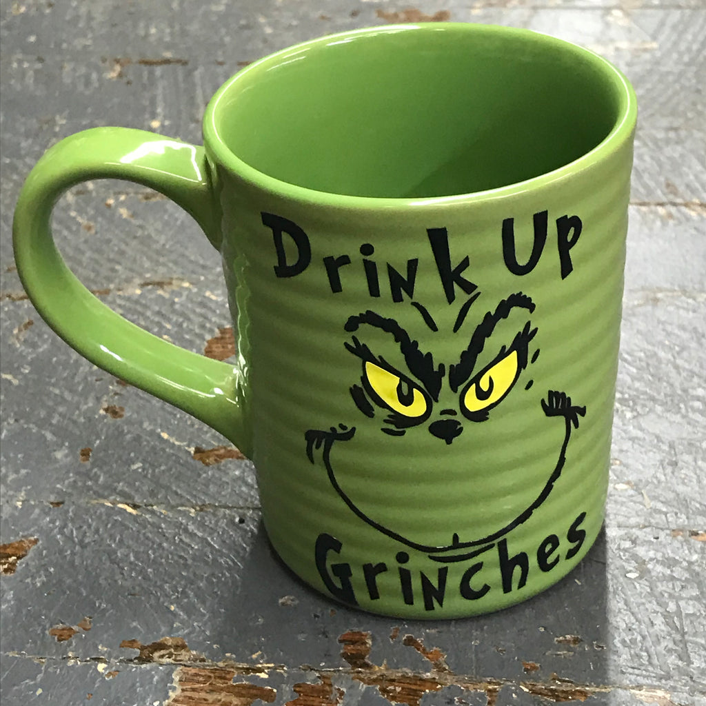 Drink Up Grinches Dr Seuss Grinch Face 12oz Beverage Drink Coffee Mug