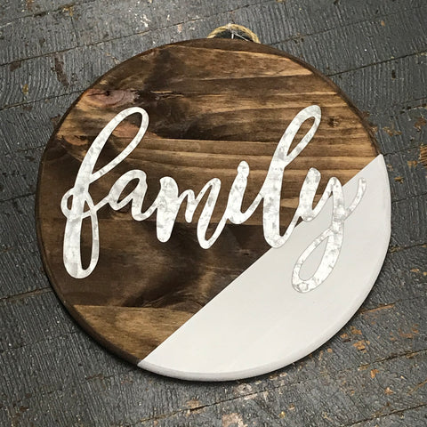 Family Round Indoor/Outdoor Wall Sign Door Wreath