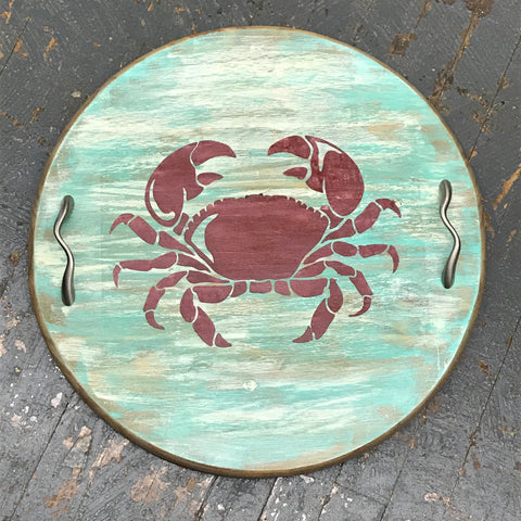Beach Sand Crab Round Indoor/Outdoor Table Tray