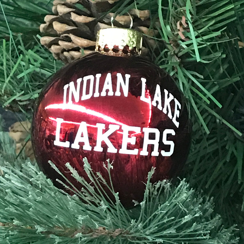 Holiday Christmas Tree Ornament Red Indian Lake Lakers