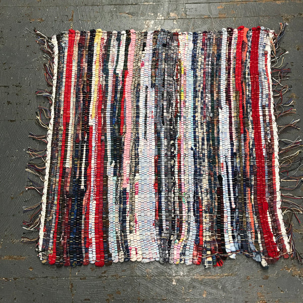 #47 Cozy Flannel Rag Weaved Table Runner Rug by Dennis