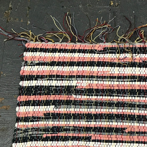 #83 Strawberry Fields Forever Rag Weaved Table Runner Rug by Morgan