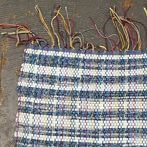 #99 Robin Egg Blue Rag Weaved Table Runner Rug by Morgan