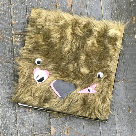 Monster Binder Notebook by Courtney Lynn Brown Fur Four Eyes Heart Nose