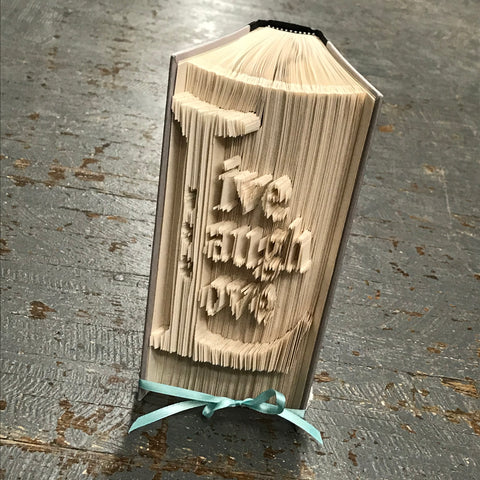 Folded Book Art Custom Folded Pages Hardback Book Live Laugh Love