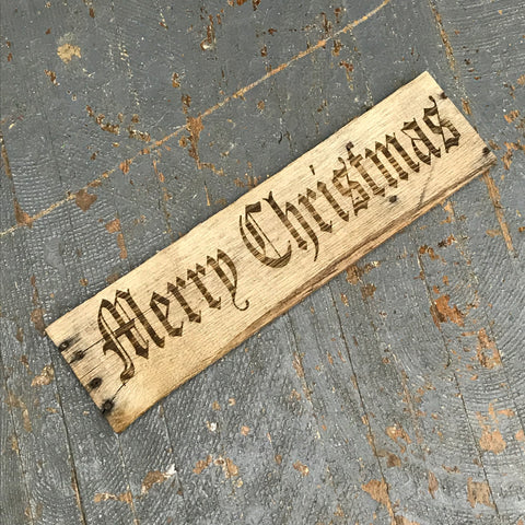 Laser Engraved Reclaimed Wood Merry Christmas Sign