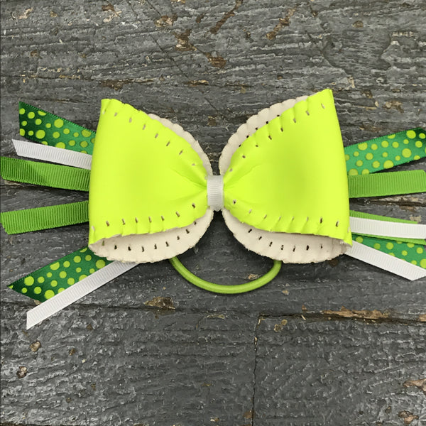 Handmade Softball Pony Tail Hair Band Bows Assorted Colors