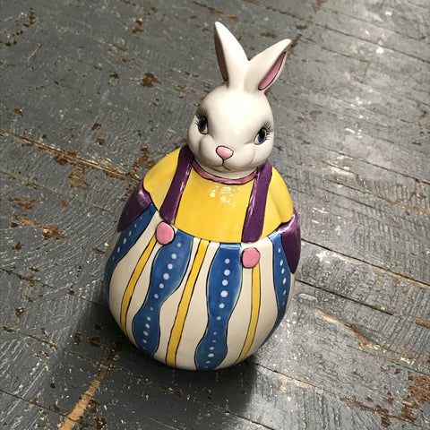 Ceramic Spring Easter Peter Cottontail Bunny Rabbit Candy Dish