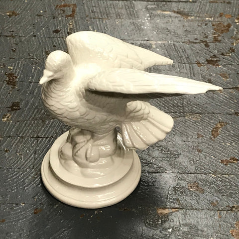 Ceramic Bird White Dove Flying Figurine