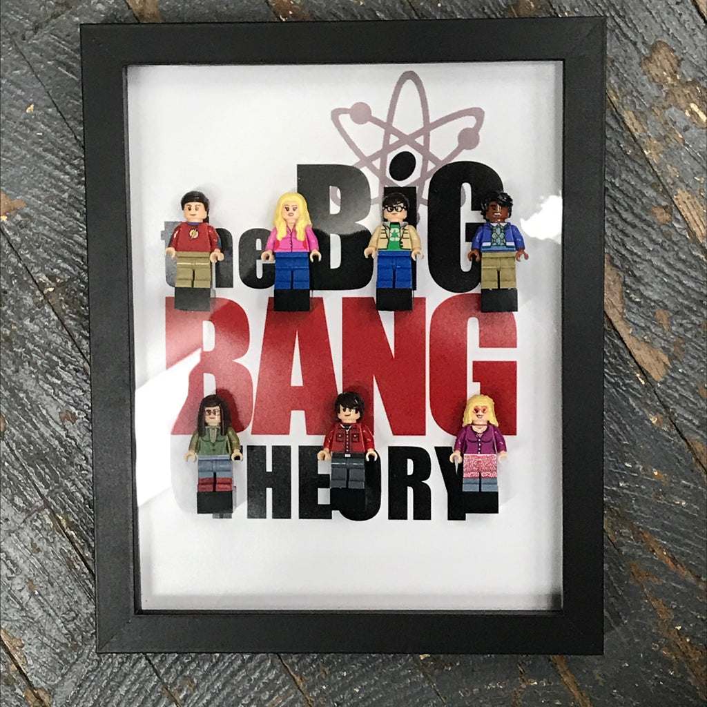 Big Bang Theory Lego Figurine Wall Display Picture Frame Toy Art