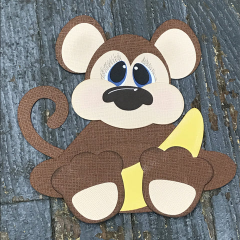 Paper Scrapbook Embellishment Gift Package Tag Baby Zoo Animal Monkey