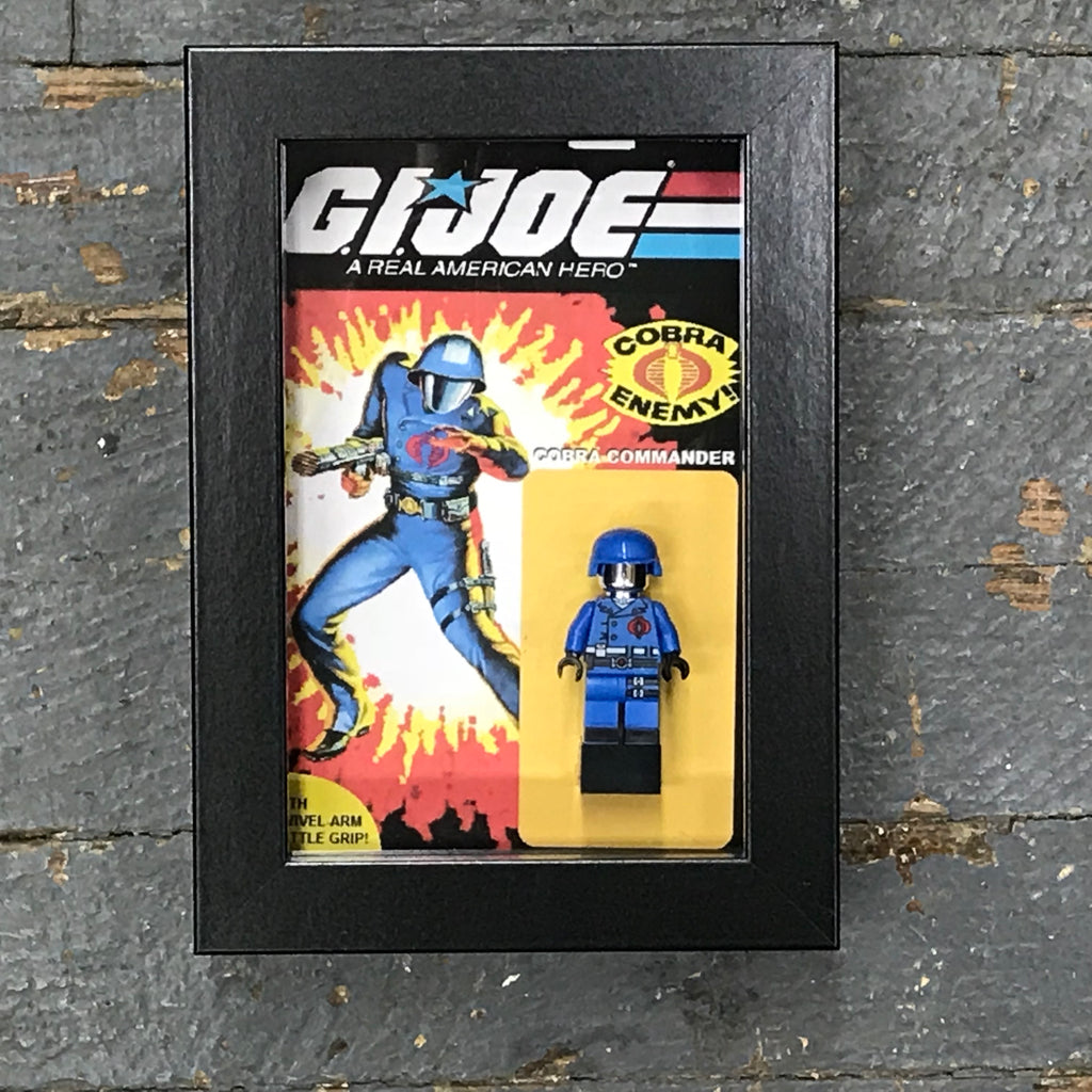 GI Joe Cobra Commander Comics Lego Figurine Wall Display Picture Frame Toy Art