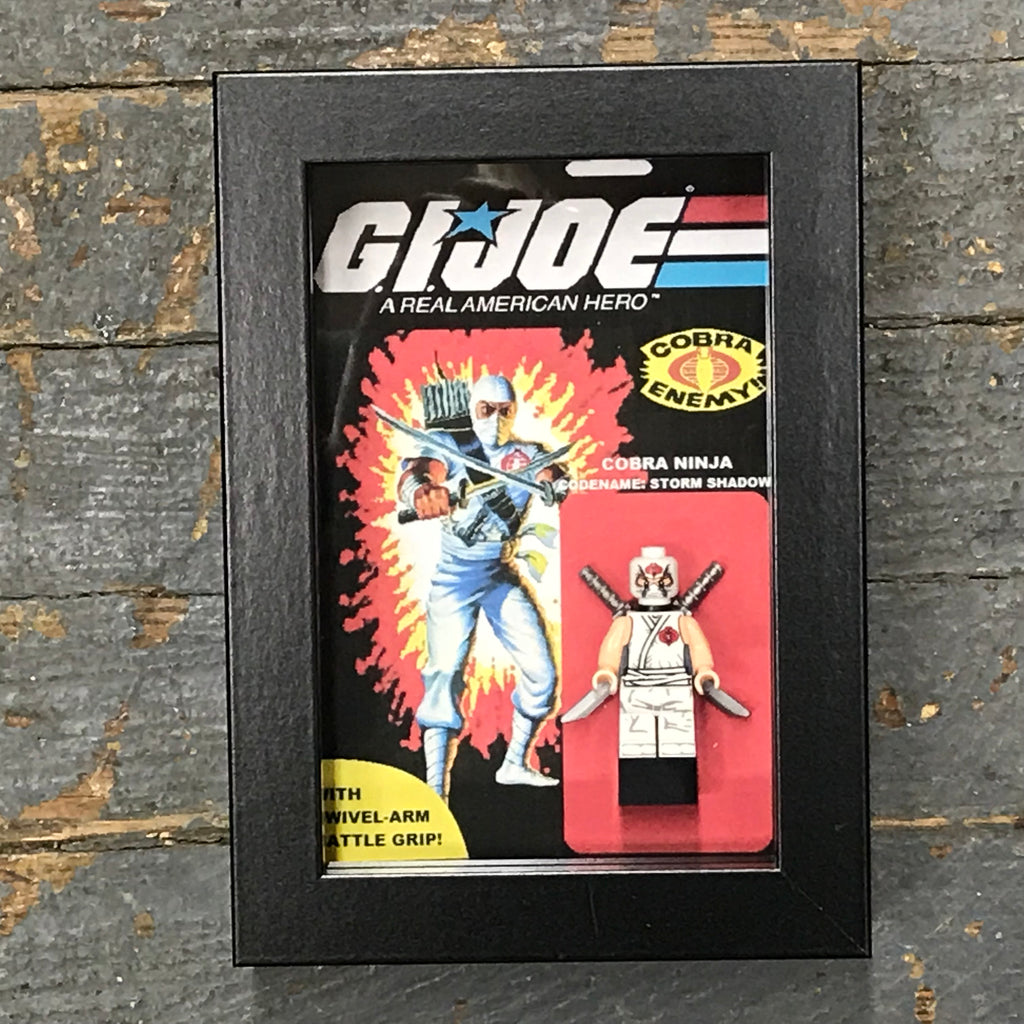 GI Joe Cobra Ninja Storm Shadow Comics Lego Figurine Wall Display Picture Frame Toy Art