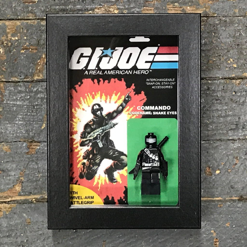 GI Joe Commando Snake Eyes Comics Lego Figurine Wall Display Picture Frame Toy Art
