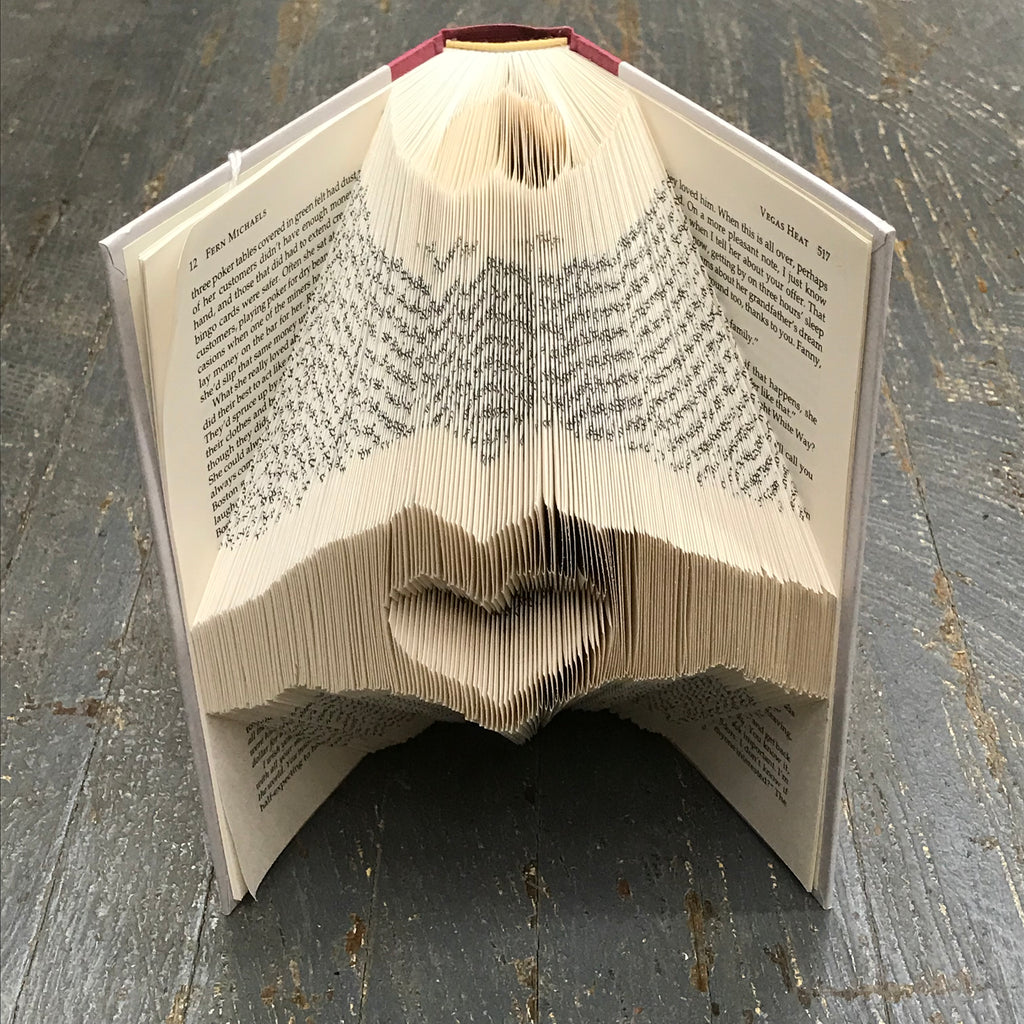Folded Book Art Custom Folded Pages Hardback Book Hands Love Heart