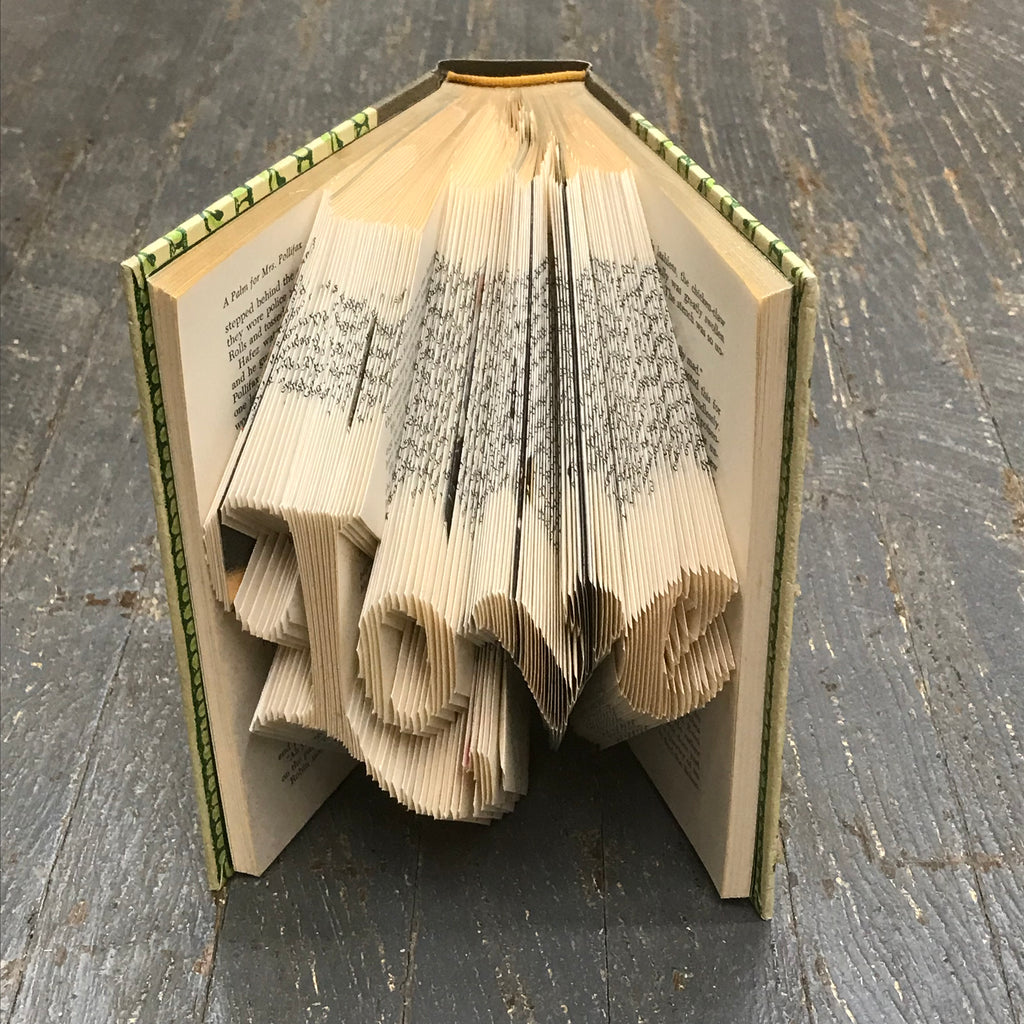 Folded Book Art Custom Folded Pages Hardback Book Word Love
