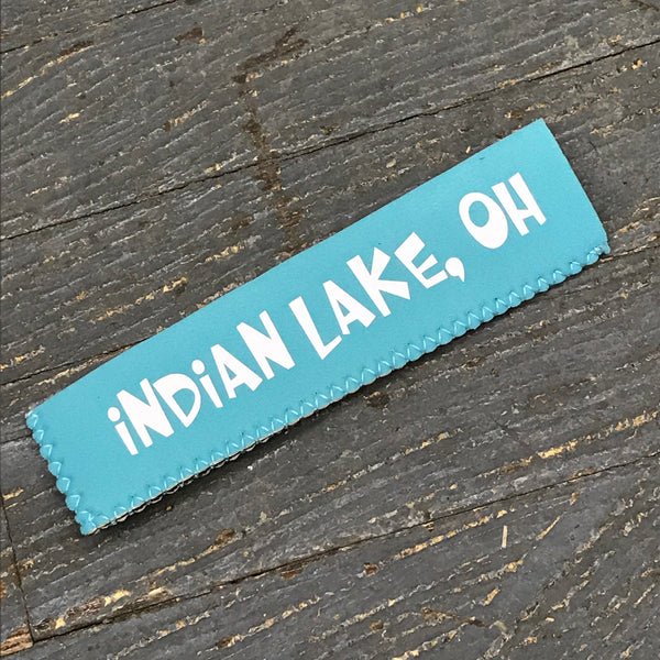 Freezer Pop Icee Freeze Hugger Coozie Holder Indian Lake Ohio Blue