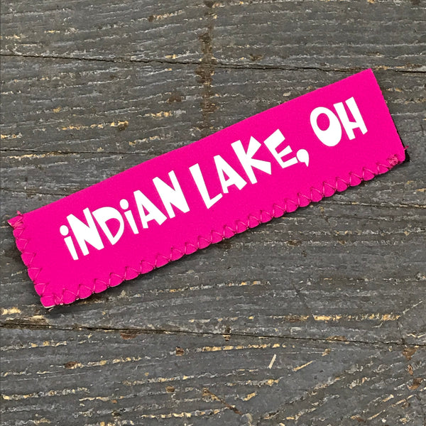 Freezer Pop Icee Freeze Hugger Coozie Holder Indian Lake Ohio Pink