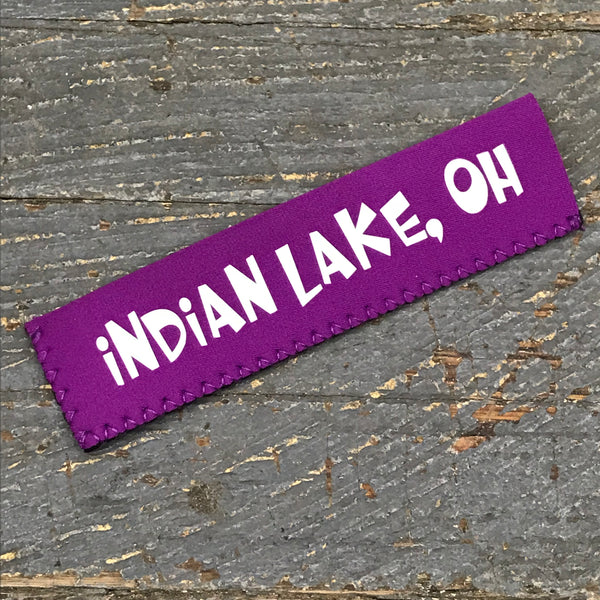 Freezer Pop Icee Freeze Hugger Coozie Holder Indian Lake Ohio Purple