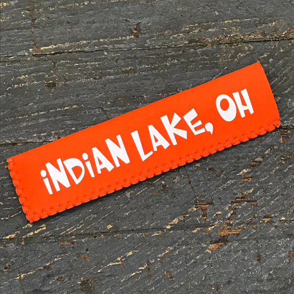 Freezer Pop Icee Freeze Hugger Coozie Holder Indian Lake Ohio Orange
