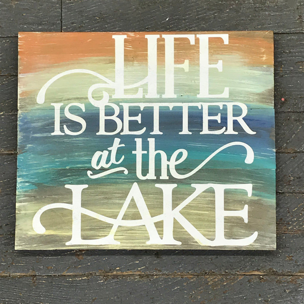 Wood Pallet Life is Better at the Lake Sign Wall Hanger Door Decor