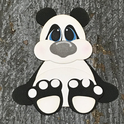 Paper Scrapbook Embellishment Gift Package Tag Baby Zoo Animal Panda
