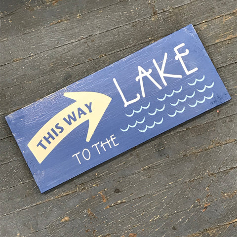 Wood Pallet This Way to the Lake Arrow Sign Wall Hanger Door Decor