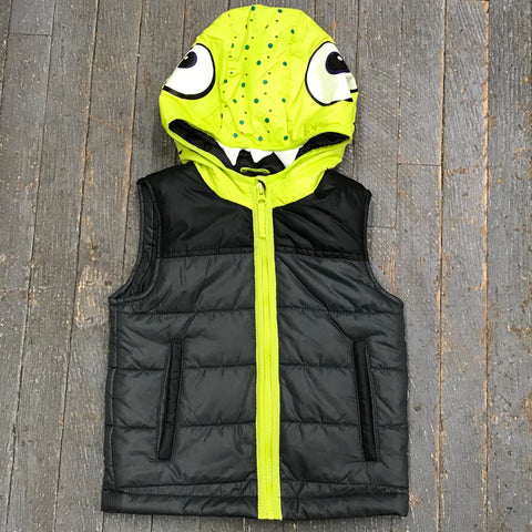 Cat & Jack Junior Boys Sleeveless Dinosaur Hood Zip Up Vest