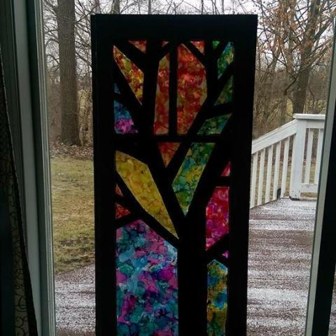 Stain Glass Window Painting at The Depot