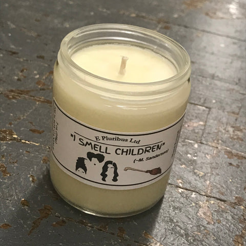 Hocus Pocus I Smell Children Apple Bobbing Hand Poured Jar Soy Candle 9oz