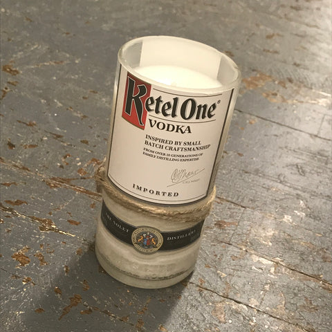 Ketel One Vodka Hand Poured Liquor Bottle Jar Soy Candle