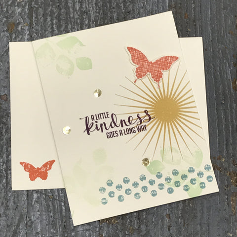 Thank You Thinking of You Kindness Handmade Stampin Up Greeting Card with Envelope Front