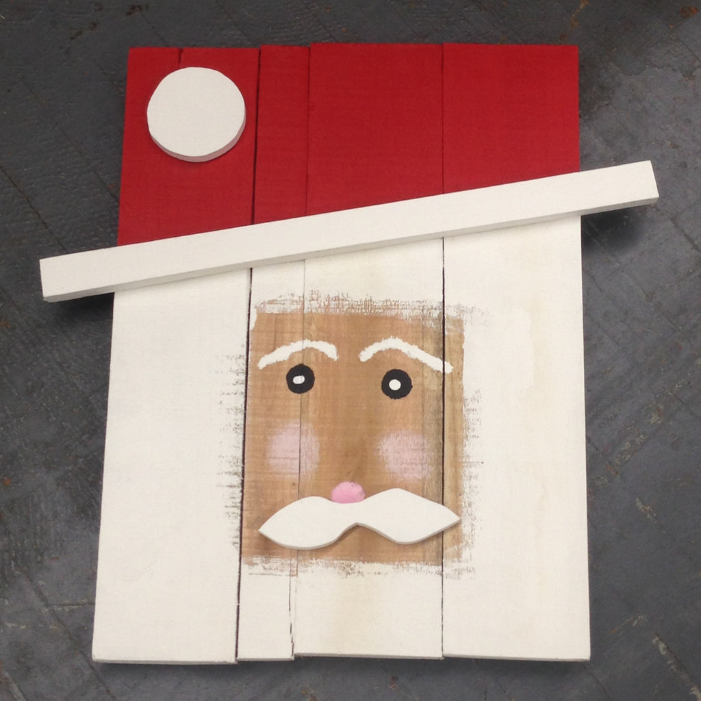 Wood Pallet St Nick Santa Claus