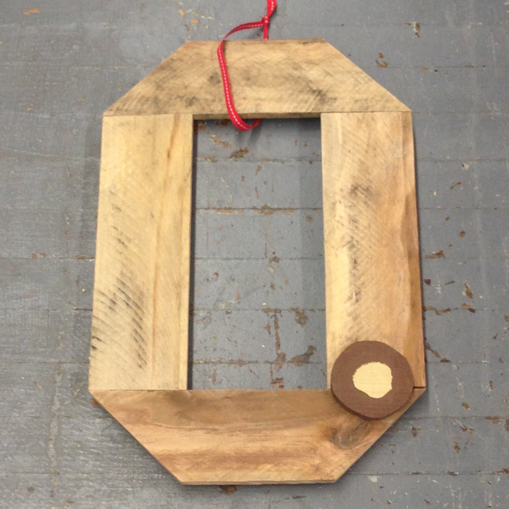 Ohio State Block O Sign Ohio State Buckeyes Repurposed Barn Wood Wall Hanger